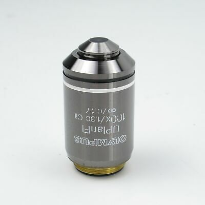 Olympus Uplanfl 100x1.30 Oil Microscope Objective Lens For Bx Series