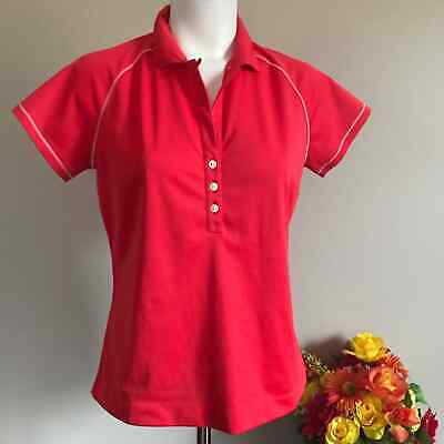 NIKE Golf Girls Red Shirt with Buttons Size Medium