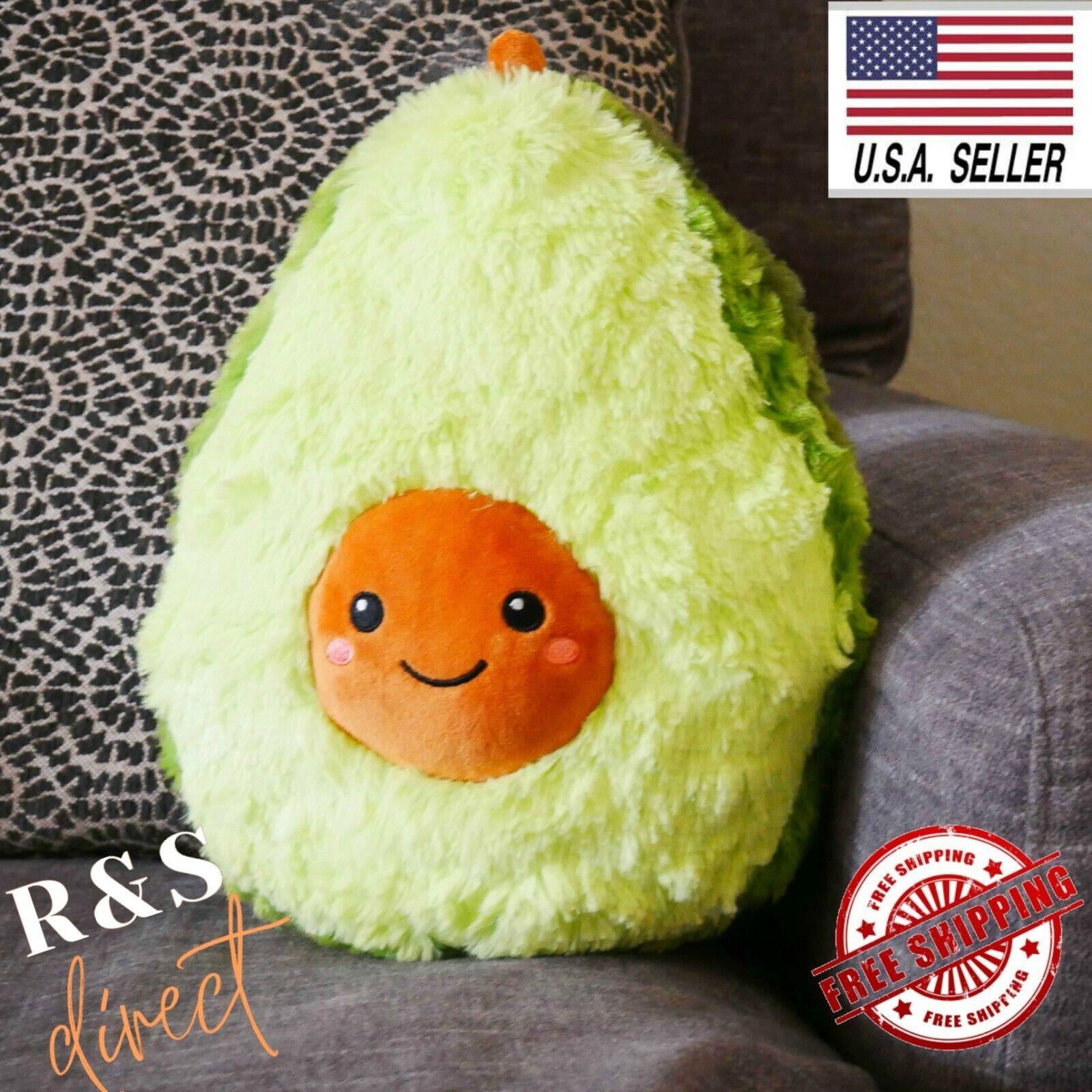 "Cute 12"" Stuffed Avocado Plush Toy Super Soft and Cuddly Pil"