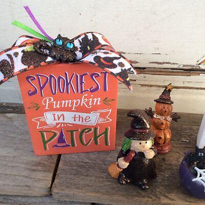 AGD Halloween Decor - Cute Witch Cauldron Spookiest  Fright Bundle 5pc