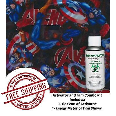 Hydro Dip Water Transfer Hydrographic Film 6oz. Activator American Avenger Kit