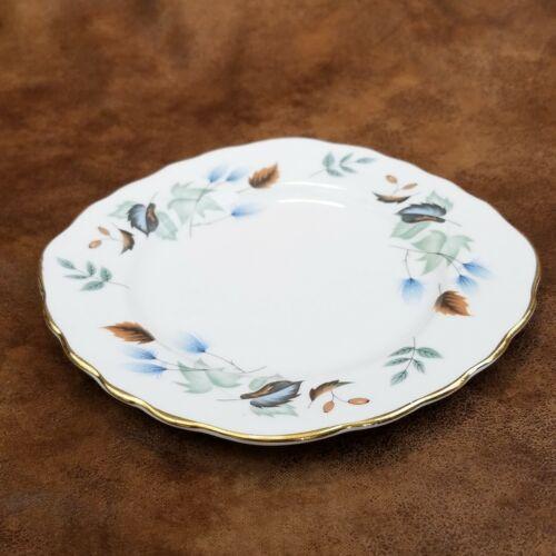 Colclough Linden Pattern Square Bread & Butter Plate Gold Edge England Vintage