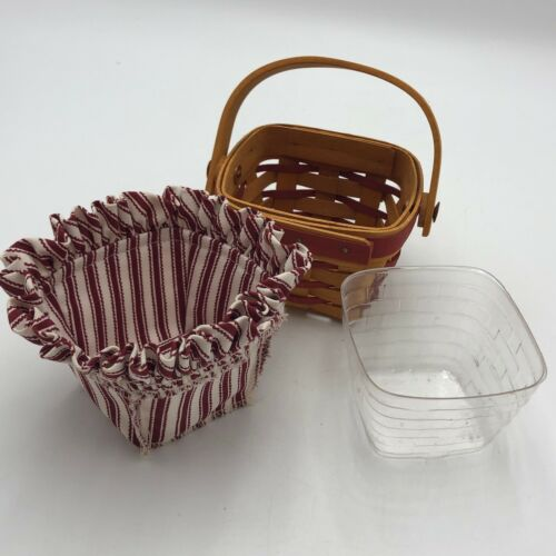 Longaberger 1995 Red Sweetheart Sweet Sentiments Basket Combo with Liner