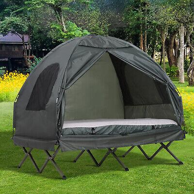 Portable Camping Tent Cot Hiking Bed Shelter Air Mattress Da