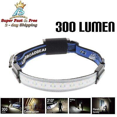 Led Headband Lights (Elastic Head Band Birght LED Broadbeam Headlamp For Camping Emergency Work)