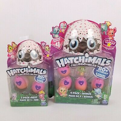 Hatchimals Colleggtibles Season 4 Hatch Bright Mystery 4-Pack and 2-Pack Nest