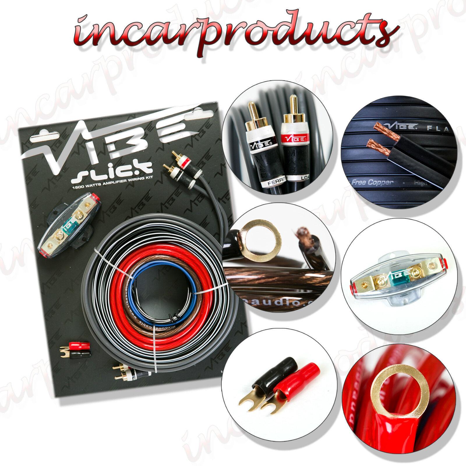 Vibe 8 Awg Gauage Slick Vsawk8 V1 1500w Amp Amplifier