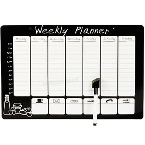 Magnetic-Wipeable-Weekly-Planner-Organiser-Memo-Notice-Board-Pen-Fridge-Magnet