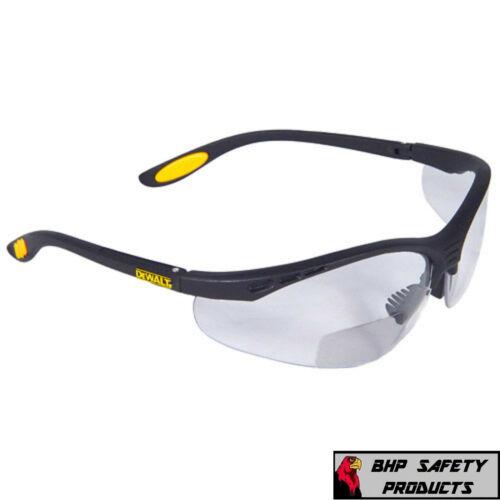 DeWalt Bifocal Reading Readers Safety Glasses CLEAR Lens 1.0, 1.5, 2.0, 2.5, 3.0