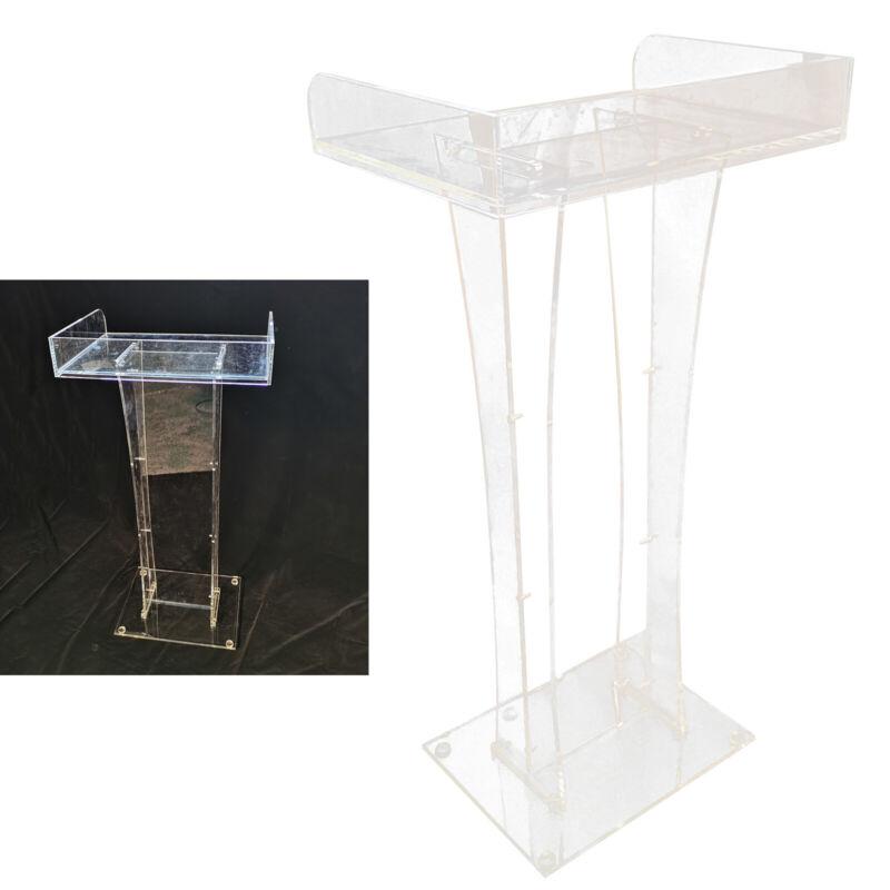 Clear Acrylic Plexiglass Perspex Podiums Clear Acrylic Column Lectern Podium USA