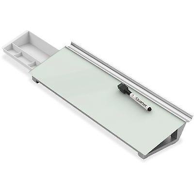 Quartet Glass Dry Erase Desktop Computer Pad 18 X 6 White Gdp186