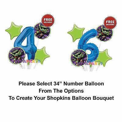 Ninja Turtle 1-9 Birthday Balloon Bouquet 5 pcs Boys Birthday Party Green Star](Ninja Turtle Birthday Party)