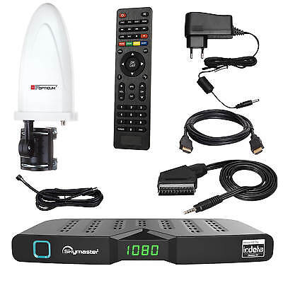 DVB-T2 Freenet TV FULL HD Terrestrisch Receiver Skymaster DTR 5000+Antenne 30dB