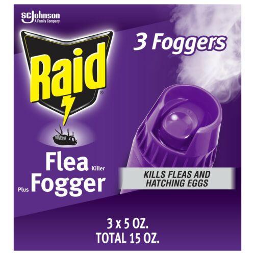 Raid Flea Killer Plus Fogger, 15 Oz