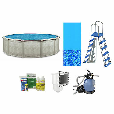 Cornelius Khaki Venetian 15ft x 52in Complete Above Ground Swimming Pool Package