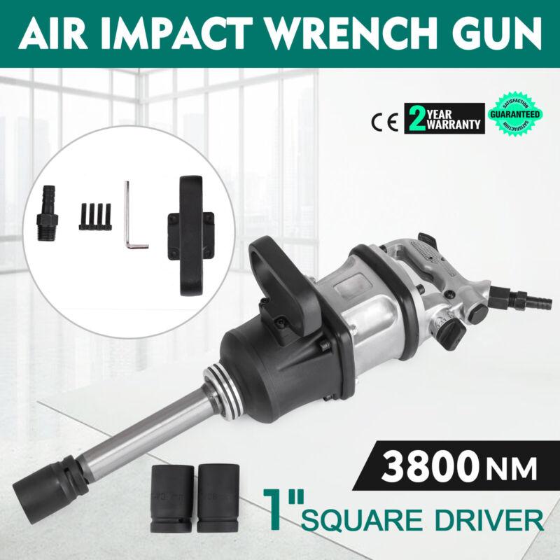 "2800 Ft.lbs 1"" Air Impact Wrench Gun Long Shank Commercial Truck w /2 Sockets"