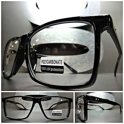 Men's or Women CLASSIC VINTAGE RETRO Clear Lens EYE GLASSES Black Fashion Frame