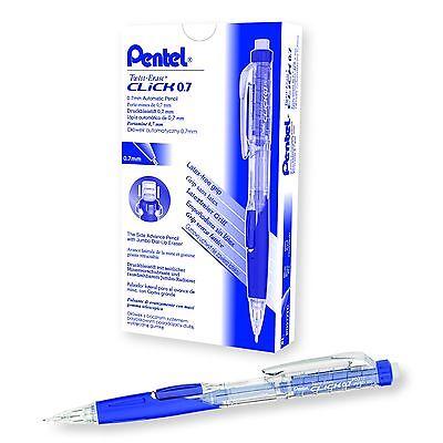 Pentel Twist-erase Click Blue 0.7mm Pentel Pd277tc - 12pk