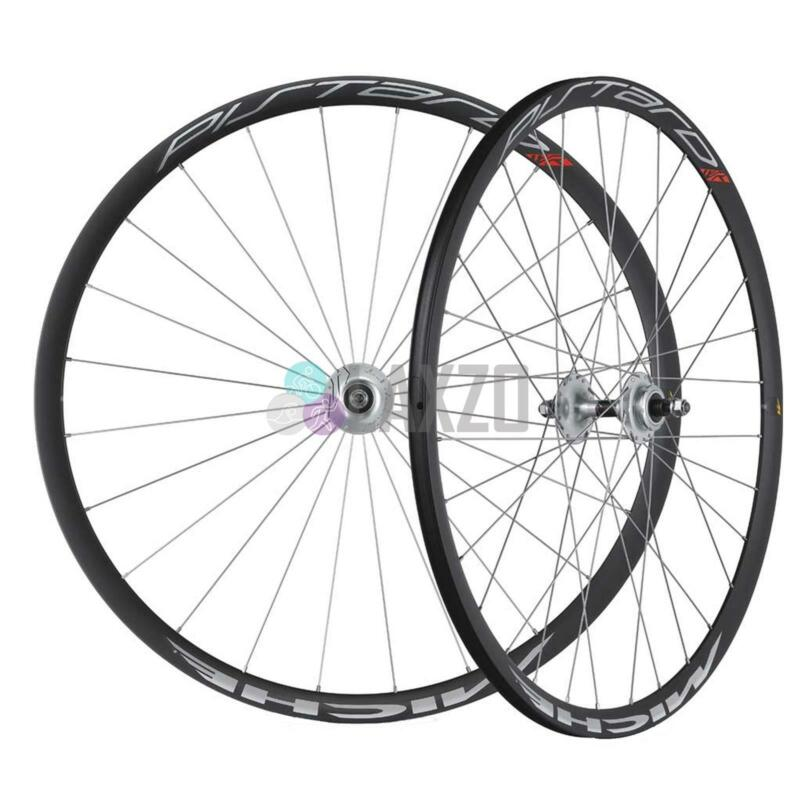 Miche Pistard Track Cycling Wheels Bike Bicycle Silver Pair