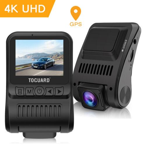 """TOGUARD 4K Dash Cam GPS Ultra HD Dashboard Camera Car 2"""" LCD"""