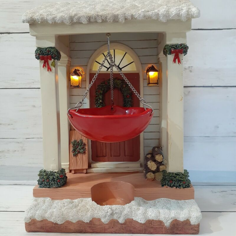 "Yankee Candle HOLLY DOOR 10"" Tea Light Tart Burner Illuminated Christmas"