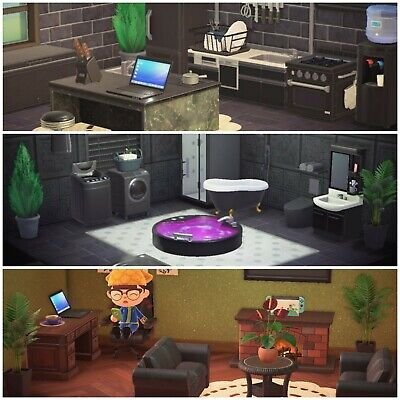 New Horizons Black Bathroom, Living Room, And Kitchen Furniture Set Bundle -