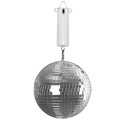 """8"""" Mirror Glass Disco Ball DJ Dance Home Party Club Stage Lightning w Motor Pack"""