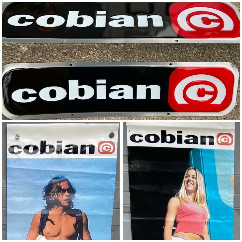 Surf Shop Sign & Advertising Cobian Sandals Collection 2 Poster / 2 Metal Signs