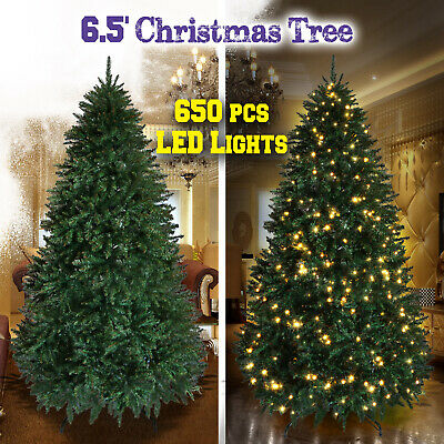Deluxe Artificial Christmas Tree 6.5/7/7.5ft Full Fir Unlit Prelighted Home Yard ()