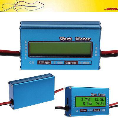 100A 60V LCD Digital Batterie-Balancen Voltage Amperemeter Analyzer Watt Meter