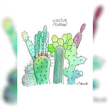 Cactus Artwork Print Marks Point Lake Macquarie Area Preview