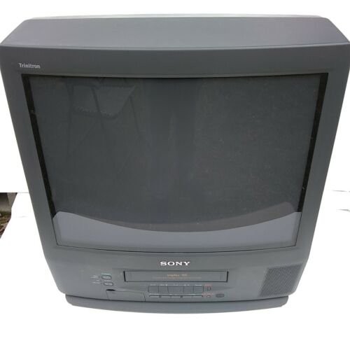 "Sony Trinitron 20"" KV-20VM42 CRT Color TV w/ Remote Retro Gaming Excellent Color"