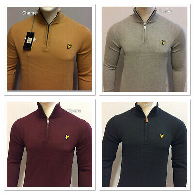 COMFORTABLE LYLE AND SCOTT LONG SLEEVE QUARTER ZIP JUMPER (SWEATER) FOR MEN