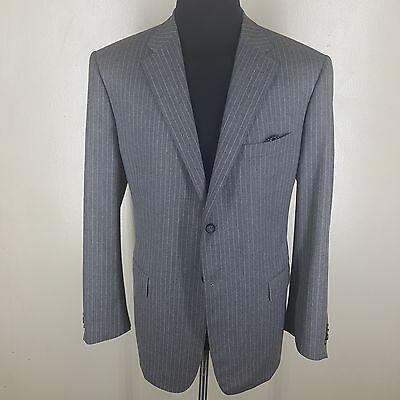 CORNELIANI Gray Pinstripe Sport Coat 100% Wool  2 Btn Side Vents Fit 44 R-46 Reg for sale  Brooklyn