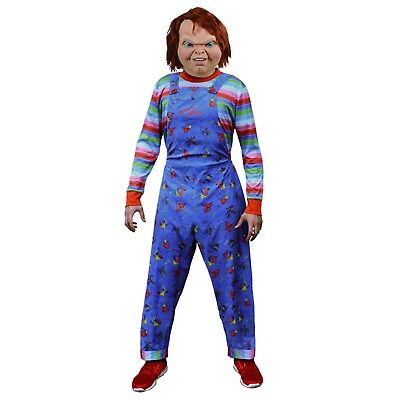 Killer Doll Kostüme (Adult Mens Child's Play 2 Costume Bride Of Chucky Doll Killer Scary Halloween)