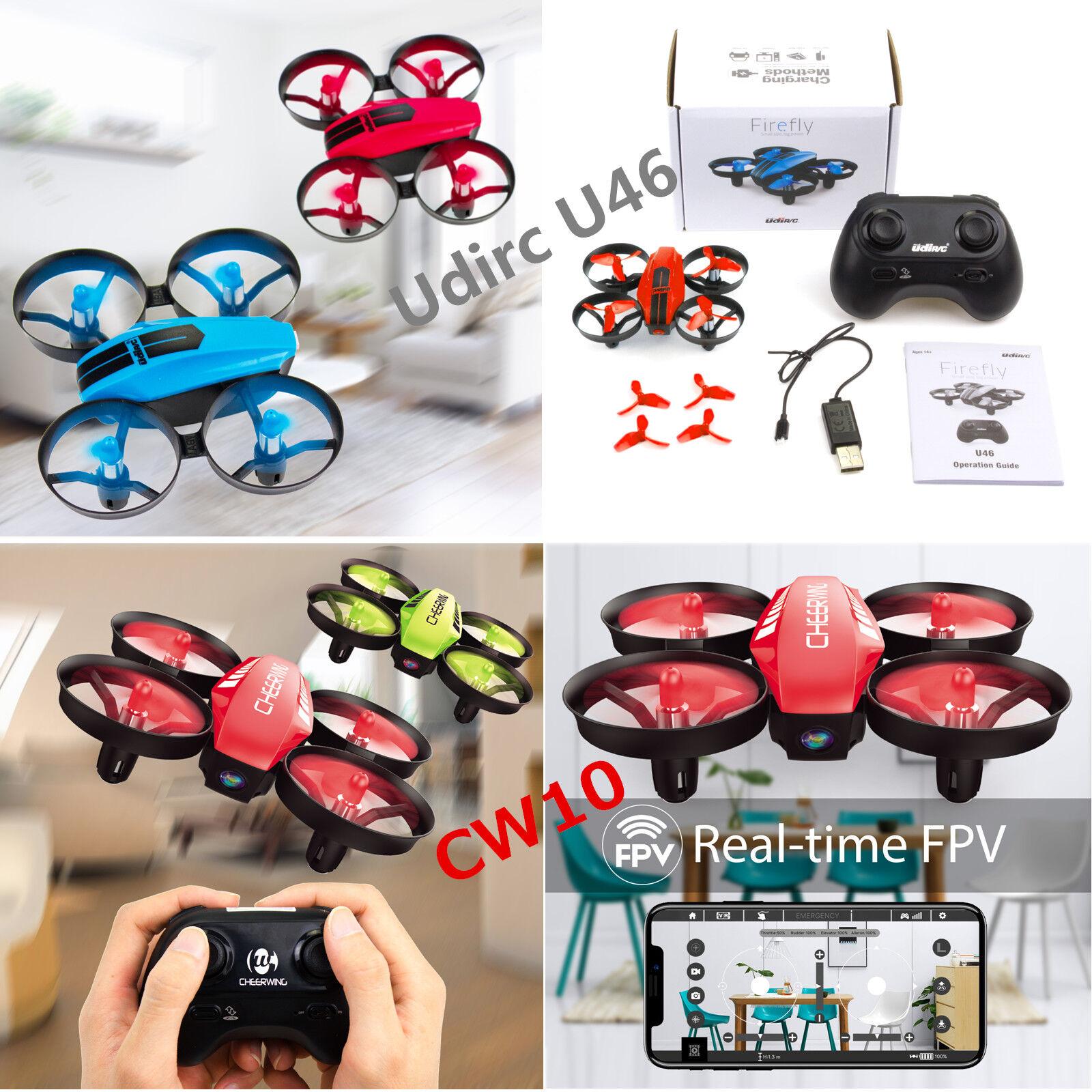 UDI U46 Mini RC Drone Kids & CW10 Mini RC Drone Wifi FPV Qua