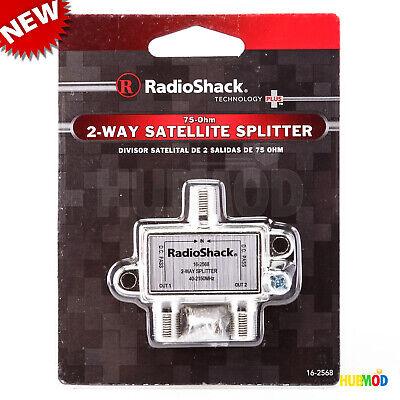 RadioShack 2 Way Satellite Splitter 75-Ohm 16-2568 with DC Pass Thru 40-2150Mhz 16 Way Splitter