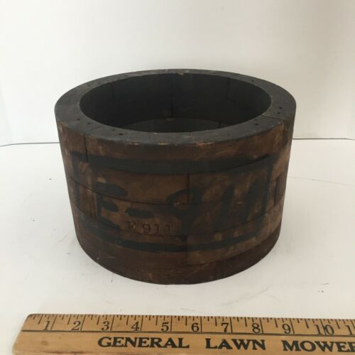 Wood Mold Foundry Pattern Antique Industrial Machinery Wooden Plug Steampunk