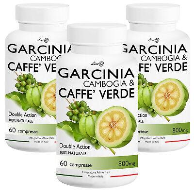 GARCINIA Cambogia&CAFFE' Verde (x 3mesi)! 2 in 1 ! Perdita Peso Dieta FATBURNER