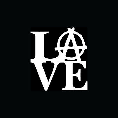 Love Anarchy Sticker Car Truck Window Vinyl Decal Laptop Evil Skate Motorcycle