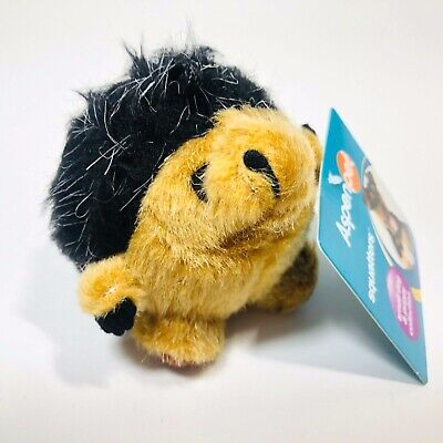 Aspen Pet Soft Bite Dog Plush Toy Squatters Puppy Chew Squeaky Sound Toy -