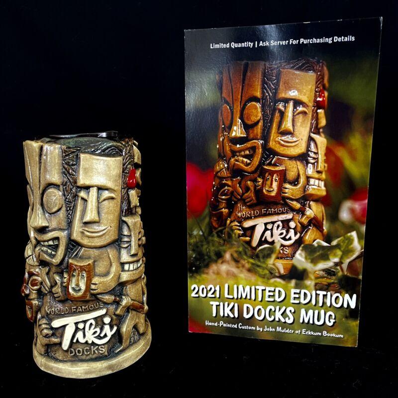 ⭐New Spectacular Limited Edition Tiki Docks Tiki Mug John Mulder Eekum Bookum ⭐