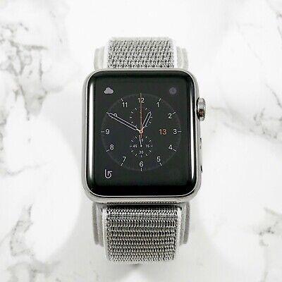 Apple Watch Gen 1 42mm Stainless Steel Case Series 7000 Silver Nylon Loop