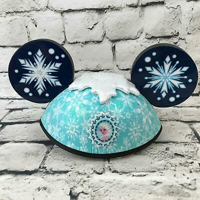 Disney Adult Sz Mickey Mouse Ears Hat Frozen Elsa Anna 2-Sided Cap - Frozen Mickey Ears