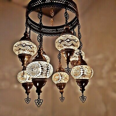 Turkish Marokkanische Arabisch Glasmosaik Kronleuchter Lampen Licht 8 Birnen - - Glas 1 Licht Kronleuchter