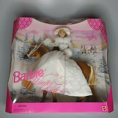 1998 Barbie Winter Ride Gift Set Horse Horseback Riding Equestrian 19850 Vintage