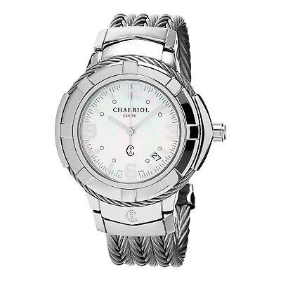Celtic Womens Watch - Charriol Women's Celtic MOP Dial Stainless Steel Quartz Watch CE438S650001