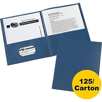 Avery 2-pocket Folder Letter-size 20shpocket 125ct Dark Blue 47985ct