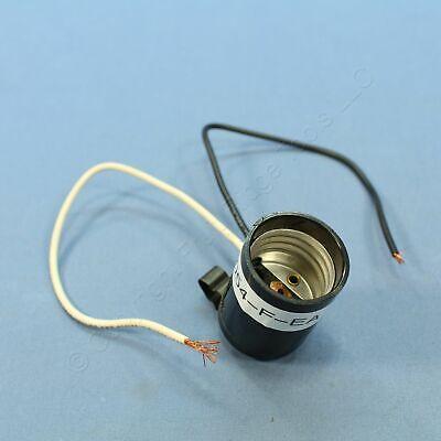 Leviton Phenolic Lampholder Light Socket Hickey E26 Medium Base Capped 2054-f