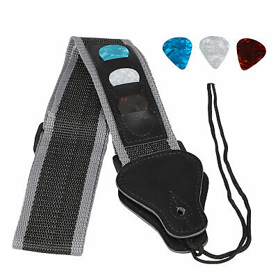Guitar Strap With 3 Pick Holders For electric/Acoustic Strap